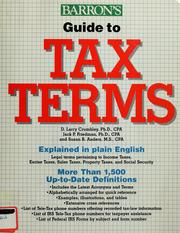 Cover of: Guide to tax terms | D. Larry Crumbley