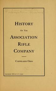 Cover of: History of the Association rifle company, Cleveland, Ohio | Young men