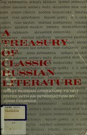 Cover of: A treasury of classic Russian literature. | John Cournos