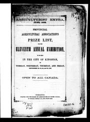 Cover of: Provincial Agricultural Association