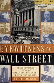 Cover of: Eyewitness to Wall Street | David Colbert