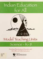 Cover of: Model teaching units | Montana. Office of Public Instruction