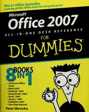 Cover of: Office 2007 all-in-one desk reference for dummies