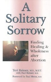 Cover of: A Solitary Sorrow (Women/Inspirational) | Teri Reisser
