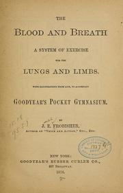 Cover of: The blood and breath | Joseph Edwin Frobisher