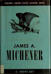Cover of: James A. Michener | A. Grove Day
