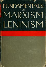 Cover of: Fundamentals of Marxism-Leninism | O. W. Kuusinen