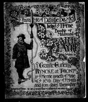 Cover of: Ye paradyse of dayntie devyses; being ye horne booke or manual of ye arte fayre holden in ye Granite curleing ryncke at Toronto in ye merrie moneth of Maie on ye 16th day of ye month and som daies thereafter | Royal Canadian Academy of Arts