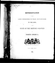 Cover of: Representation of the Lords Commissioners for Trade and Plantations to the King | Great Britain. Board of Trade.
