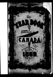 Cover of: The Year book and almanac of Canada for 1869 | Harvey, Arthur
