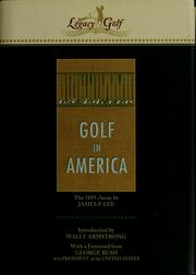 Cover of: Golf in America | James P. Lee