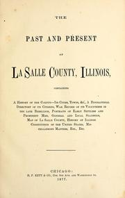 Cover of: The past and present of La Salle County, Illinois by