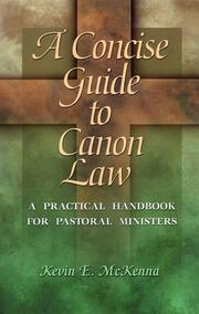 Cover of: A concise guide to canon law