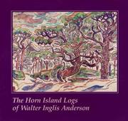 Cover of: The Horn Island logs of Walter Inglis Anderson | Walter Inglis Anderson