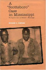 "Cover of: A ""Scottsboro"" case in Mississippi"