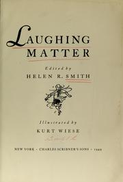 Cover of: Laughing matter | Helen R. Smith