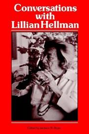 Cover of: Conversations with Lillian Hellman