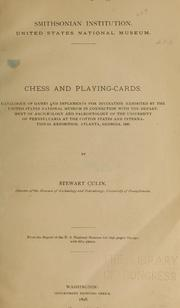 Chess and playing cards by Stewart Culin