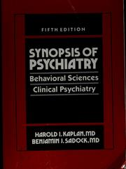 Synopsis of psychiatry by Harold I. Kaplan