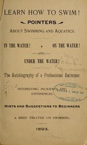 Cover of: Learn how to swim | Clara] 1867- [from old catalog Beckwith