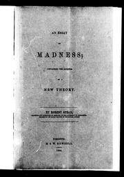 Cover of: An essay on madness | Robert Spear