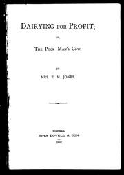 Dairying for profit, or, The poor mans cow