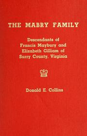 Cover of: The Mabry family | Collins, Donald E.