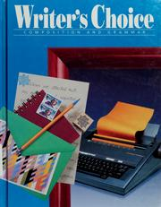 Cover of: Writer's choice