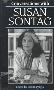 Cover of: Conversations with Susan Sontag