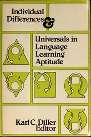 Cover of: Individual differences & universals in language learning aptitude | Karl Conrad Diller