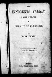 Cover of: The innocents abroad | Mark Twain