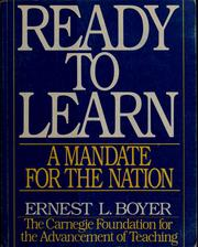 Cover of: Ready to learn | Ernest L. Boyer