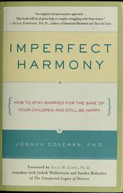 Cover of: Imperfect harmony | Joshua Coleman