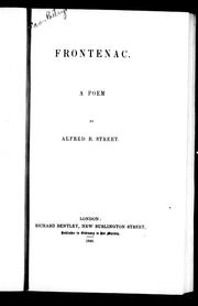 Frontenac by Alfred B. Street