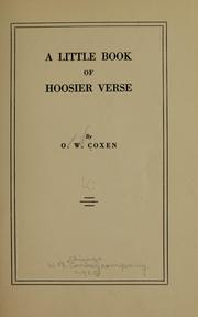 Cover of: A little book of Hoosier verse | Omar William Coxen