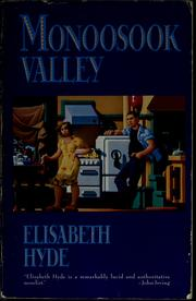 Cover of: Monoosook Valley | Elisabeth Hyde