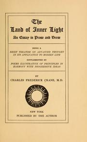 Cover of: The land of inner light | Charles Frederick Crane