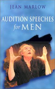 Audition Speeches for Men (Theatre Arts (Routledge Paperback)) by Jean Marlow