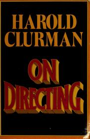 Cover of: On directing | Harold Clurman