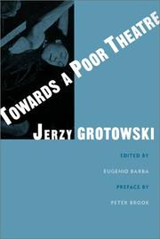 Cover of: Towards a poor theatre
