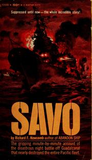 Cover of: Savo | Richard F. Newcomb