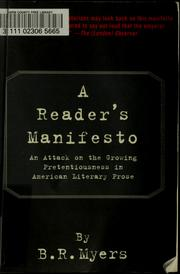 Cover of: A reader's manifesto by B. R. Myers