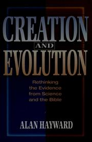 Cover of: Creation and evolution | Alan Hayward