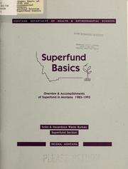 Cover of: Superfund basics by Montana. Dept. of Health and Environmental Sciences. Superfund Section.