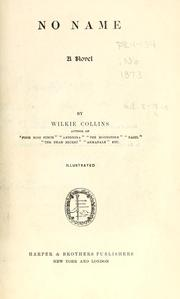 Cover of: No name. | Wilkie Collins