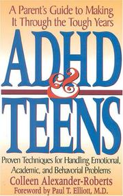 Cover of: ADHD and teens