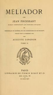 Cover of: Méliador by Jean Froissart