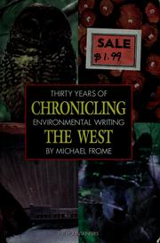 Cover of: Chronicling the West | Michael Frome