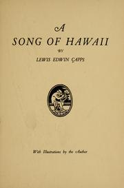 Cover of: A song of Hawaii | Lewis Edwin Capps
