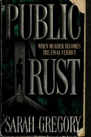 Cover of: Public Trust | Sarah Gregory